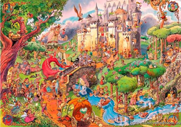 Fairy Tales (HEY29414), a 1500 piece jigsaw puzzle by HEYE.