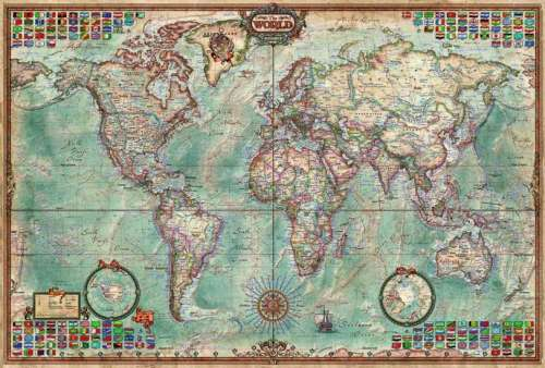 The worlds largest wooden jigsaw puzzle antique world map jigsaw the world executive map pc jigsaw by educa edu large world map jigsaw puzzle gumiabroncs Images