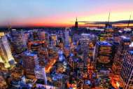 Manhattan Sunset, New York (EDU14824), a 3000 piece Educa jigsaw puzzle.
