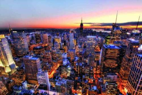 Manhattan Sunset, New York (EDU14824), a 3000 piece jigsaw puzzle by Educa. Click to view larger image.