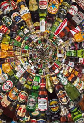 Beer Tunnel (EDU14121), a 1500 piece jigsaw puzzle by Educa. Click to view larger image.