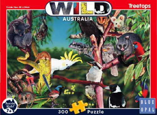 Treetops (Wild Australia Educational Series) (BL01983), a 300 piece jigsaw puzzle by Blue Opal. Click to view larger image.