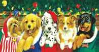 Stocking Puppies (SUN52626), a 500 piece jigsaw puzzle by Sunsout. Click to view this jigsaw puzzle.
