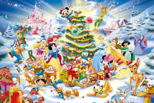 Disney Christmas Eve (RB19287-8), a 1000 piece jigsaw puzzle by Ravensburger. Click to view larger image.