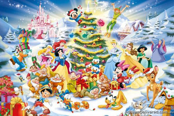 Disney Christmas Eve (RB19287-8), a 1000 piece jigsaw puzzle by Ravensburger.