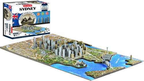 4D Cityscape - Sydney (VEN400326), a 940 piece jigsaw puzzle by Ventura Games. Click to view larger image.