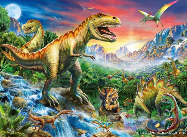 Time of the Dinosaurs (RB10665-3), a 100 piece jigsaw puzzle by Ravensburger.