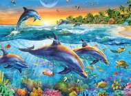 Dolphin Cove (RB14210-1), a 500 piece Ravensburger jigsaw puzzle.