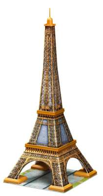 Eiffel Tower (3D Puzzle) (RB12556-2), a 216 piece jigsaw puzzle by Ravensburger. Click to view larger image.