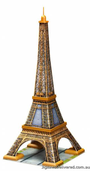 Eiffel Tower (3D Puzzle) (RB12556-2), a 216 piece jigsaw puzzle by Ravensburger.