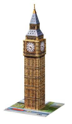 Big Ben (3D Puzzle) (RB12554-8), a 216 piece jigsaw puzzle by Ravensburger. Click to view larger image.