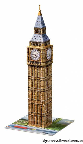 Big Ben (3D Puzzle) (RB12554-8), a 216 piece jigsaw puzzle by Ravensburger.