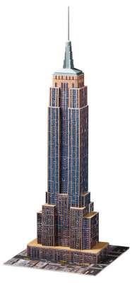 Empire State Building (3D Puzzle) (RB12553-1), a 216 piece jigsaw puzzle by Ravensburger. Click to view larger image.
