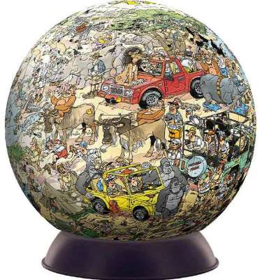 Safari (3D Sphere) (JUM17212), a 240 piece jigsaw puzzle by Jumbo. Click to view larger image.