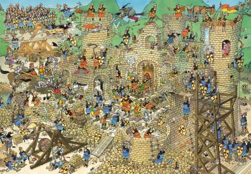 Castle Conflict (1000pc) (JUM17213), a 1000 piece jigsaw puzzle by Jumbo. Click to view larger image.