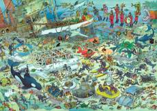 Under Water World (1000pc) (JUM17079), a 1000 piece Jumbo jigsaw puzzle.