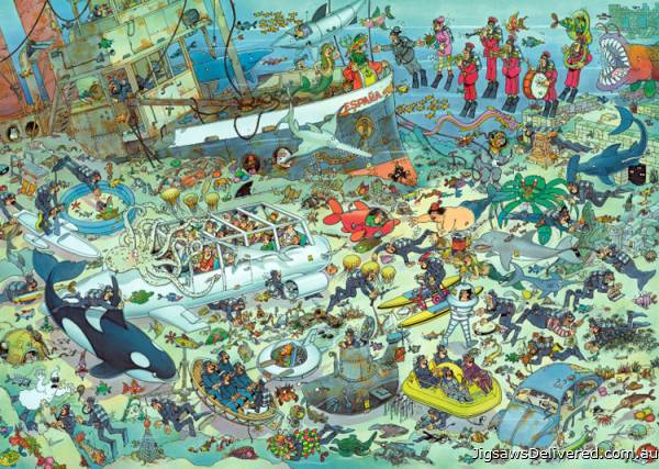 Under Water World (1000pc) (JUM17079), a 1000 piece jigsaw puzzle by Jumbo.