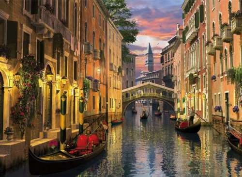 Venice (Romantic Italy) (CLE 39218), a 1000 piece jigsaw puzzle by Clementoni. Click to view larger image.