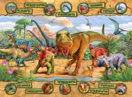 Dinosaurs (RB10609-7), a 100 piece Ravensburger jigsaw puzzle.
