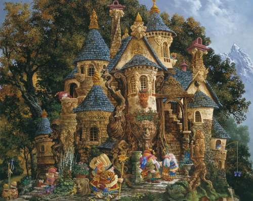 College of Magical Knowledge (RB14112-8), a 500 piece jigsaw puzzle by Ravensburger. Click to view larger image.