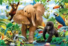Jungle Juniors (Giant Floor Puzzle) (RB05347-6), a 24 piece Ravensburger jigsaw puzzle.