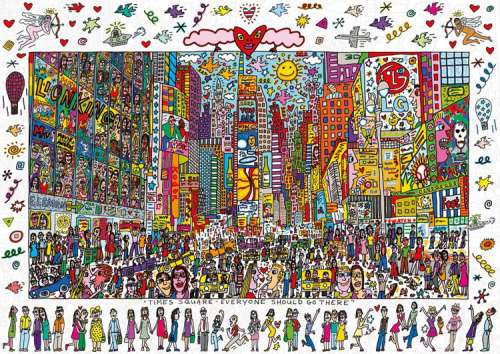 Times Square, New York (RB19069-0), a 1000 piece jigsaw puzzle by Ravensburger. Click to view larger image.