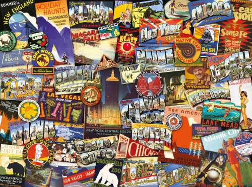 American Road Trip (RB19212-0), a 1000 piece jigsaw puzzle by Ravensburger. Click to view larger image.