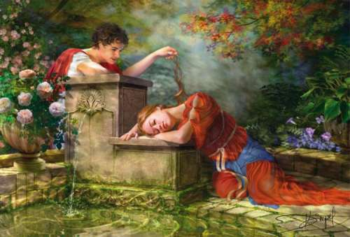 While She Was Sleeping (EDU15168), a 8000 piece jigsaw puzzle by Educa. Click to view larger image.
