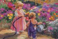 Garden of Innocence (Flower Tots) (HOL092987), a 500 piece Holdson jigsaw puzzle.