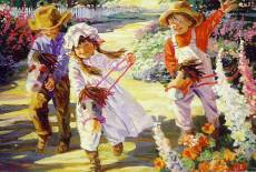 Giddy Up (Flower Tots) (HOL092970), a 500 piece Holdson jigsaw puzzle.