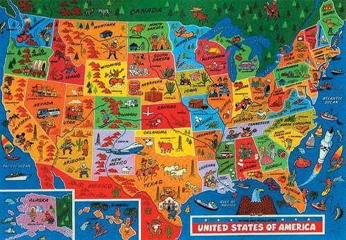 USA Map Jigsaw By JR Jigsaws JR Pcs Jigsaws - Us map jigsaw puzzle