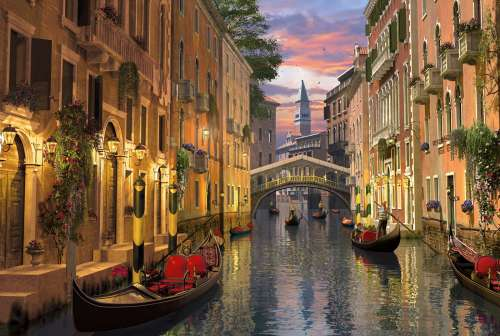 Venice (Romantic Italy 6000pc) (CLE 36517), a 6000 piece jigsaw puzzle by Clementoni. Click to view larger image.