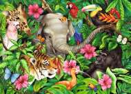 Tropical Friends (RB09533-9), a 60 piece Ravensburger jigsaw puzzle.