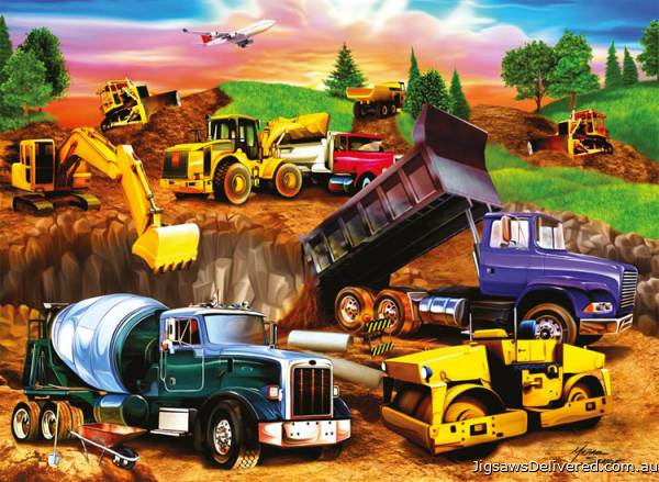 Construction Crowd (RB09525-4), a 60 piece jigsaw puzzle by Ravensburger.