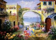 Mediterranean Secret (Table for Two) (59229), a 1000 piece Holdson jigsaw puzzle.