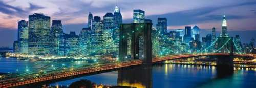 Brooklyn Bridge, New York (CLE 39209), a 1000 piece jigsaw puzzle by Clementoni. Click to view larger image.