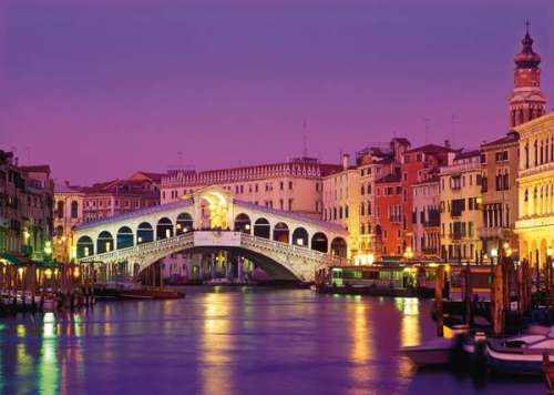 Rialto Bridge, Venice (CLE 39068), a 1000 piece jigsaw puzzle by Clementoni. Click to view larger image.