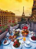 Breakfast in Paris (CLE 30320), a 500 piece Clementoni jigsaw puzzle.