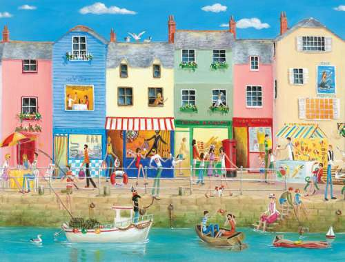 Down by the Sea (Large Pieces) (RB13541-7), a 300 piece jigsaw puzzle by Ravensburger. Click to view larger image.