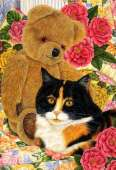 Bear Comfort (Country Cats) (HOL092314), a 500 piece Holdson jigsaw puzzle.