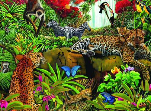 Wild Jungle (RB10781-0), a 100 piece jigsaw puzzle by Ravensburger. Click to view larger image.