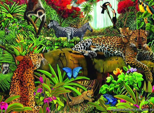 Wild Jungle (RB10781-0), a 100 piece jigsaw puzzle by Ravensburger.