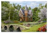 Cobbled Bridge Cottage (EDU15519), a 1000 piece Educa jigsaw puzzle.