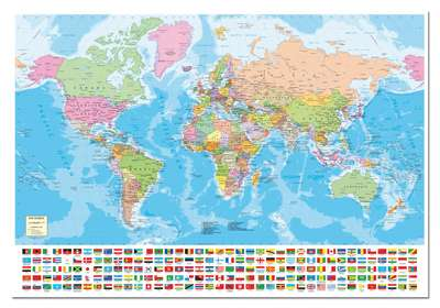 Political world map jigsaw by educa edu15317 1500 pcs jigsaws political world map edu15317 a 1500 piece jigsaw puzzle by educa gumiabroncs Gallery