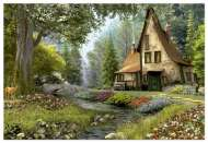 Toadstool Cottage (EDU15543), a 6000 piece Educa jigsaw puzzle.
