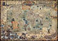 Pirate World Map (HEY29526), a 3000 piece HEYE jigsaw puzzle.