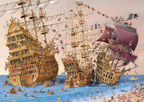 Corsair (HEY29570), a 1000 piece jigsaw puzzle by HEYE. Click to view larger image.