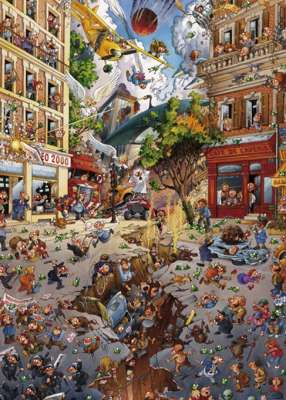 Apocalypse (HEY29577), a 2000 piece jigsaw puzzle by HEYE. Click to view larger image.