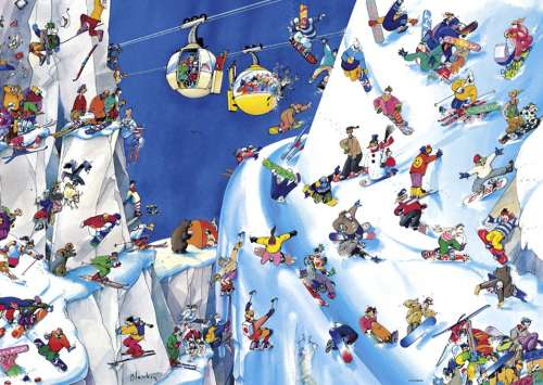 Snowboards (HEY29565), a 1000 piece jigsaw puzzle by HEYE. Click to view larger image.