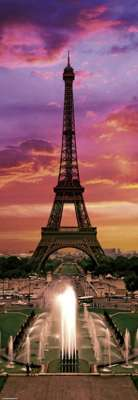 Eiffel Tower, Paris (Sights) (HEY29551), a 1000 piece jigsaw puzzle by HEYE. Click to view larger image.